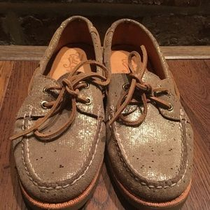 Sperry Shoes - Sperry Top-Sider Gold Cup Leather Boat Shoe Sz 7.5